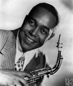 Charlie Parker Holding Saxophone