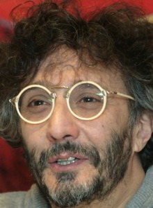 Argentine singer-songwriter Fito Paez speaks during a news conference in La Paz
