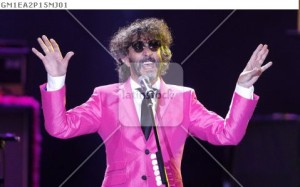 Argentine musician Fito Paez performs during the 55th International Song Festival in Vina del Mar city