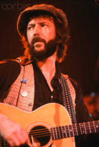 Eric Clapton Playing Acoustic Guitar in Concert