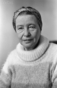 French Writer Simone de Beauvoir