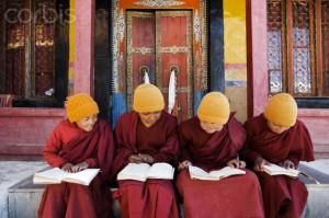 Buddhist boy at Thiksey Monastery school, Ladakh, India