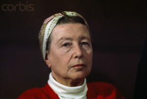 French Existentialist and Writer Simone De Beauvoir
