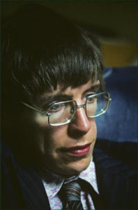 G.B. England.  Cambridge.   Professor Stephen Hawking.  1986.